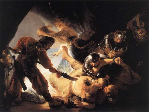 Rembrandt, The Blinding of Samson