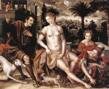 Jan Massys, David and Bathsheba, 1562