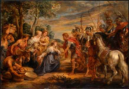 Rubens, The Meeting of David and Abigail, c. 1630