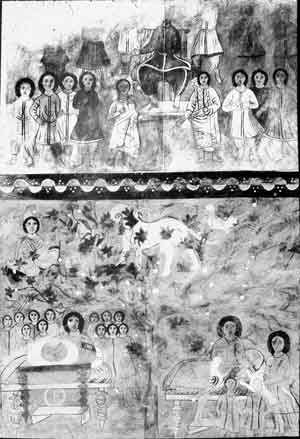 Dura Europos, David enthroned and Jacob and his sons