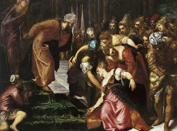 The Fainting of Esther, Tintoretto, 1548