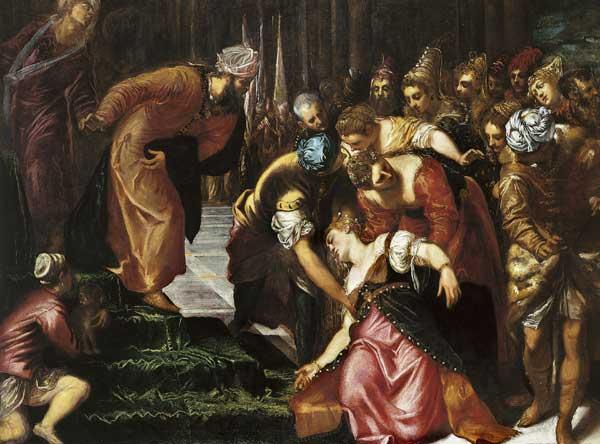 אסתר מתעלפת. טינטורטו, 1548