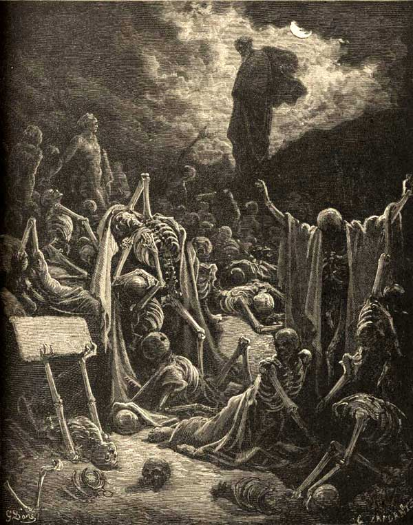 Gustave Dore, Le Sainte Bible, The Dry Bones, 1886