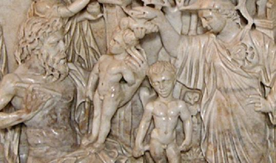 Prometheus and Minerva enlivening man,Vatican, 3rd century