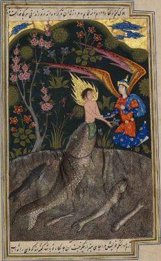 Qisas al Anbiya (Diez a fol 3, f. 142v): Jonah